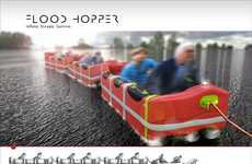 Tsunami-Ready Rafts - The FloodHopper Should Become a Standard Household Item in Innondated Areas