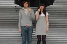 Tandem Umbrella For Lovers