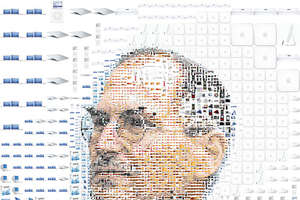 Steve Jobs Made of Apple Products