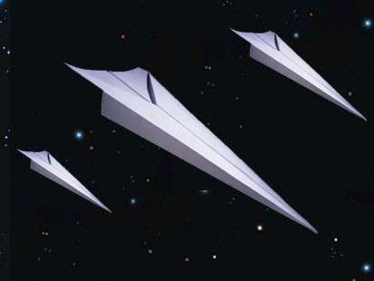 Space Origami - Astronauts Fly Paper Plane From Space