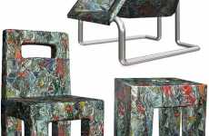 Recycled Furniture - Chairs Made of Cans, Bathtubs, Shopping Carts