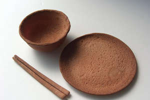 Rice Design Plates and Bowls You Can Eat