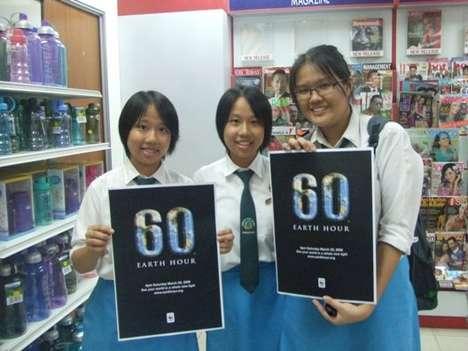 Earth Hour 2008 - Kuala Lumpur, Malaysia (Guerrilla School Story)