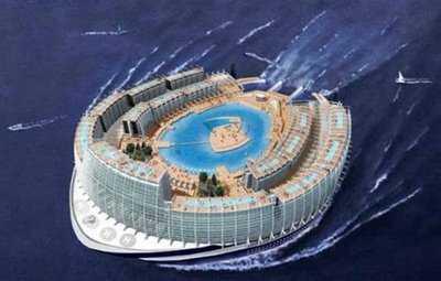 Floating Worlds - The AZ Island Megaship (Flashback)