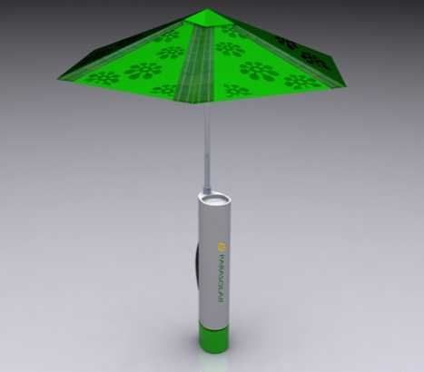 Eco-Friendly Charging Umbrellas