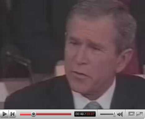 Presidential Beatbox - George Bush Singing Sunday Bloody Sunday