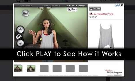 Virtual Fashion Sampling - Webcam Social Shopper by PrestShop Creates an AR Fitting Room