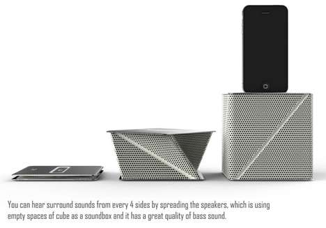 Foldable Docking Stations - The Viva Speakers are Perfect Travel Companions