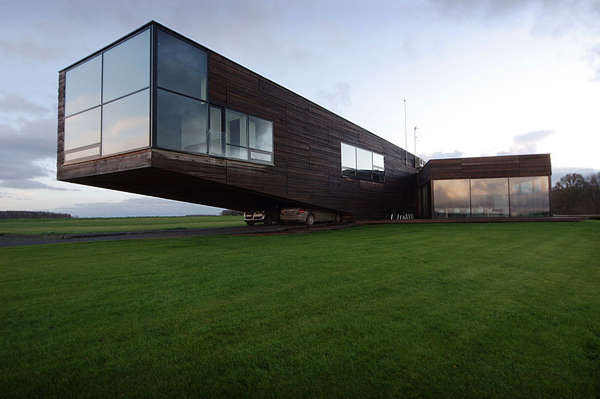 Cantilevered Wooden Cabins