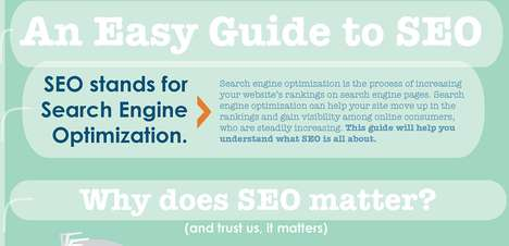 Informative Online Search Charts - This 'Easy Guide To SEO' Infographic is a Must-Read