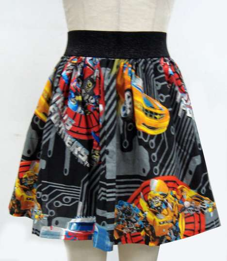 Geeky Chic Skirts - Ashley Mertz Mixes Intergalactic and Comic Patterns With Fashion