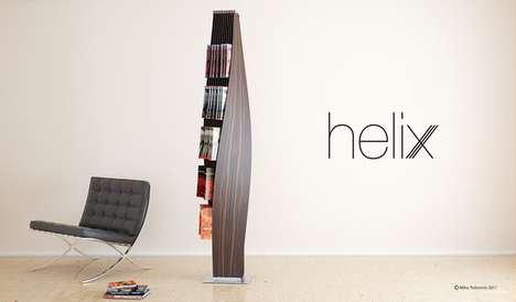Helix Magazine Rack