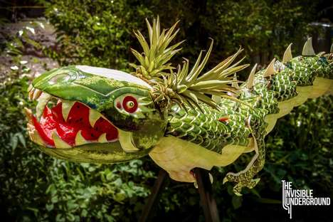 Wicked Watermelon Dragon Creations - Shawn Freeney Carves a Sculpture Made Entirely From Fruit