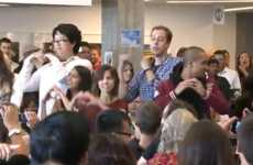 Massive Office Flash Mobs - Twitter Rejoices Over Justin Bieber's 25 Million Followers With a Dance