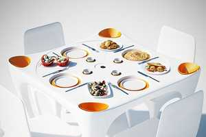The 'Bye Bye Wind' Table Keeps Your Dishware in One Place