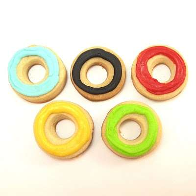 Olympic Ring Cookie Bites