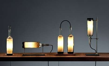 Wine Bottle Lamp Series