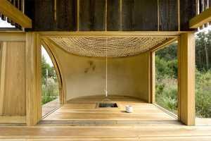 The A1Architects 'Black Teahouse' Sits on a Picturesque Landscape