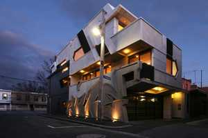 The Hive Graffiti Apartments by Zvi Belling are Sleek and Contemporary