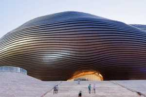 The Ordos Museum by MAD Architects is a Spectacle On the Outside as Well