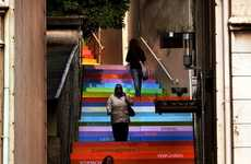 Rainbow Street Art Installations - The Horst Glasker 'Scala' Installation is Beautiful