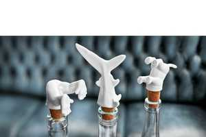 The Wine Diver Bottle Stoppers Delve Into Drinkables