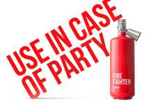 Extinguished Alcohol Branding - Fire Fighter Vodka Packaging Was Designed for Emergency Socials