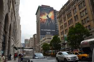 150ft The Dark Knight Rises Ad in Manhattan Generates Mad Hype