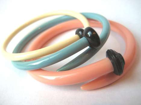 Recycled Vintage Knitting Needle Bracelets by Etsy