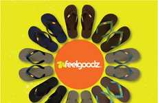 Planet-Friendly Flip Flops - Feelgoodz Footwear Is Constructed Using Socially Responsible Methods