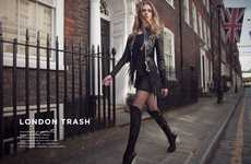 Textured Leather Fashion - London Trash by Joel Cartier is Alluring and Carefree