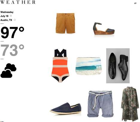 Weather-Based Clothing Sites - The Wevther Website Helps Users Find the Perfect Outfit