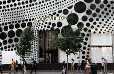 Designer Polka Dot Graffiti - The Yayoi Kusama Design Plasters Louis Vuitton on 57th Street