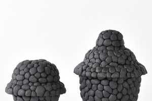 The Debbie Wijskamp 'Black Ruby Pebbles' Series Rocks