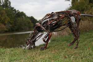 The Scrap Metal Gallery by Sayaka Ganz Reuses Discarded Pieces