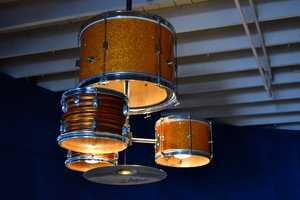 This Drum Chandelier is One-of-a-Kind