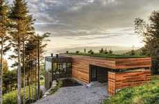 Cubed Camouflaged Havens - Malbaie V Residence by MU Architecture Blends into the Scenery