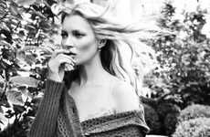 Monochromatic Jean Captures - The Liu Jo Campaign for Fall/Winter Features Kate Moss