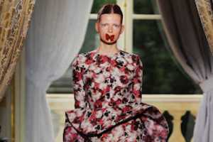 The Giambattista Valli Couture Fall 2012 Display Features Butterflies