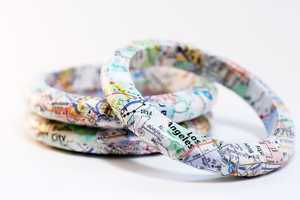 The Recycled California Map Bracelets by Squishy Sushi are Eco-Conscious
