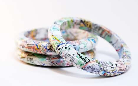 Recyled California Map Bracelets by Squishy Sushi