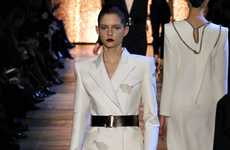 High Powered Womenswear Lines - The Yves Saint Laurent Fall 2012 Collection is Commanding