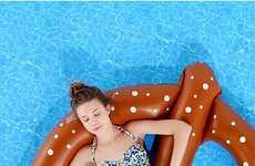 Salty Snack Pool Toys - The Urban Outfitter's Pretzel Pool Float is Carb-Loaded