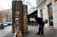Public Literary Installations - The Book Forest Brings a Sense of Community