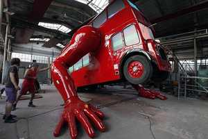 The London Booster by David Cerny was Created for the 2012 London Olympics