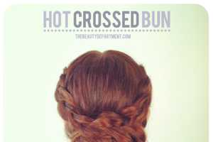 The Beauty Department Hot Crossed Bun Hair DIY is Gorgeous