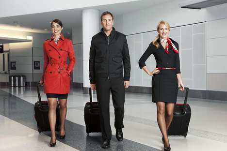 Posh Airline Attire - Banana Republic Designs Virgin America Uniforms for a Fresh New Look