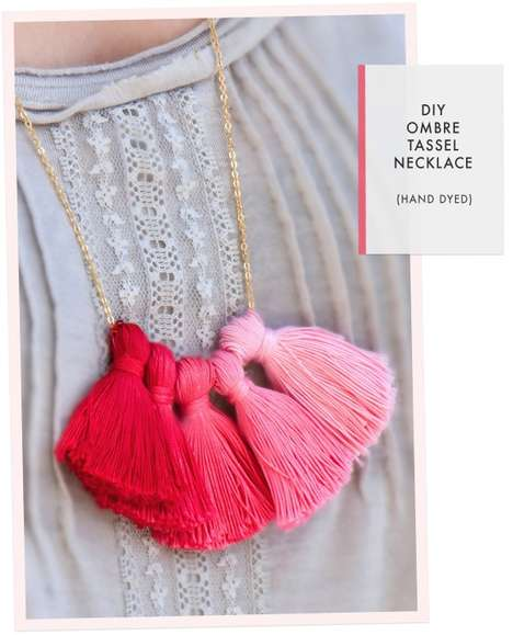 Oh the Lovely Things Tassel Necklace