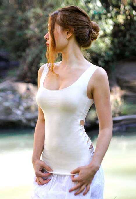 Shovava White Tank Top with Open Back Detail