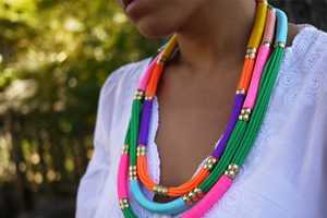 Learn How to Make These DIY Utility Rope Necklaces by Honestly Wtf